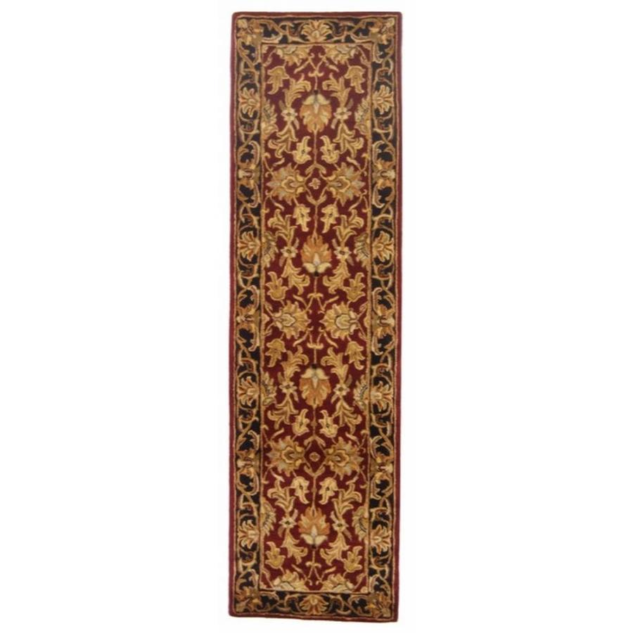 Safavieh Heritage Red and Black Rectangular Indoor Tufted Runner (Common: 2 x 10; Actual: 2.25-ft W x 10-ft L)