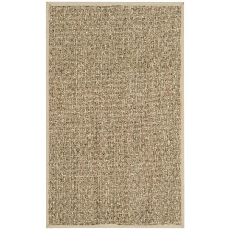 Safavieh Natural Fiber Hampton Natural/Ivory Rectangular Indoor Machine-made Coastal Throw Rug (Common: 2 x 4; Actual: 2.5-ft W x 4-ft L)