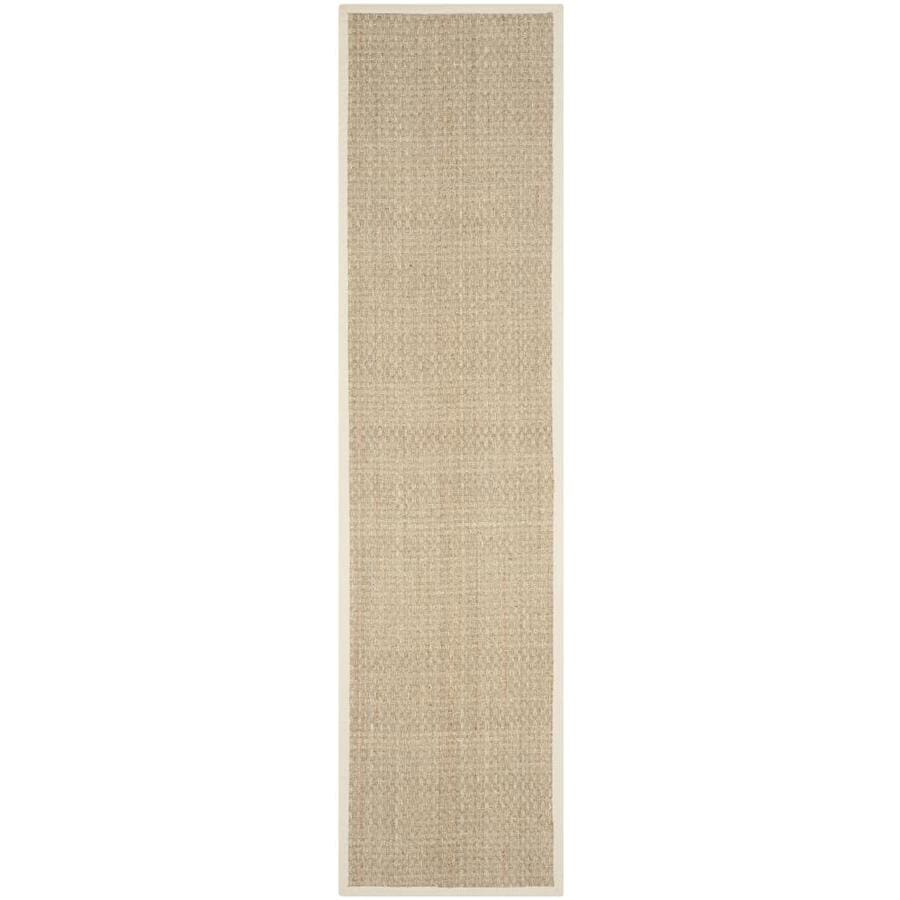 Safavieh Natural Fiber Hampton Natural/Ivory Indoor Coastal Runner (Common: 2 x 8; Actual: 2.5-ft W x 8-ft L)