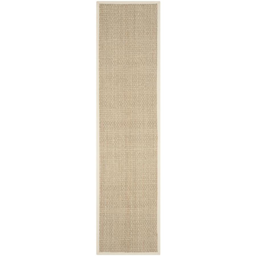Safavieh Natural Fiber Hampton Natural/Ivory Rectangular Indoor Machine-made Coastal Runner (Common: 2 x 8; Actual: 2.5-ft W x 8-ft L)