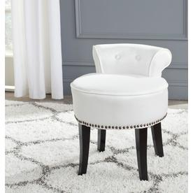 Safavieh 22 8 in H White Round Makeup Vanity Stool Shop Stools at Lowes com