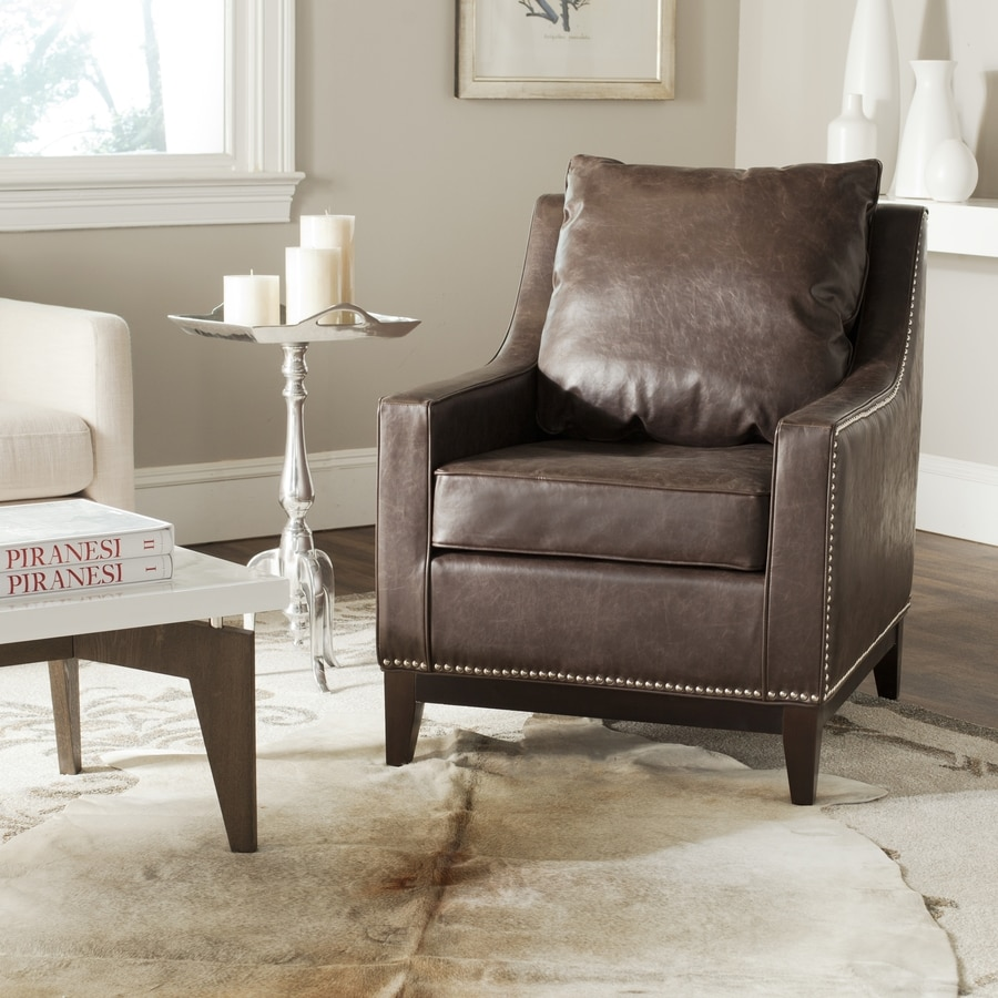 Safavieh Mercer Brown Accent Chair