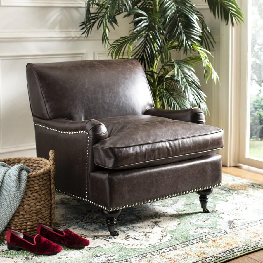 Safavieh Mercer Brown Accent Chair