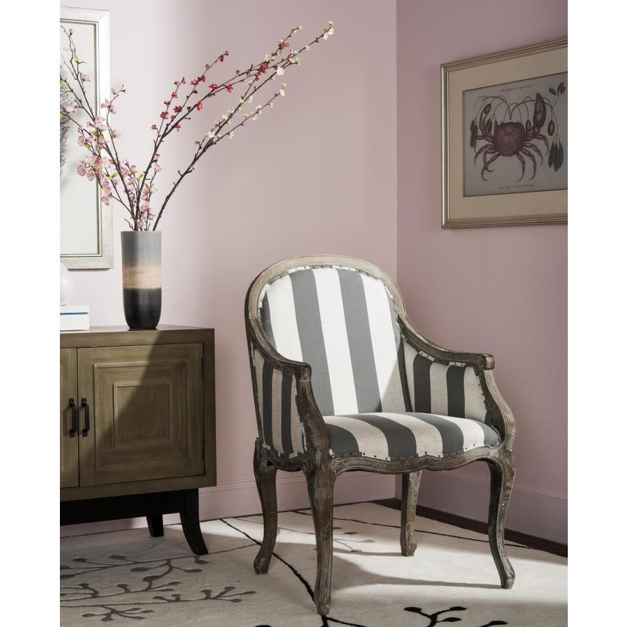 Safavieh Esther Rustic Grayoff Whitepickled Oak Linen Accent Chair