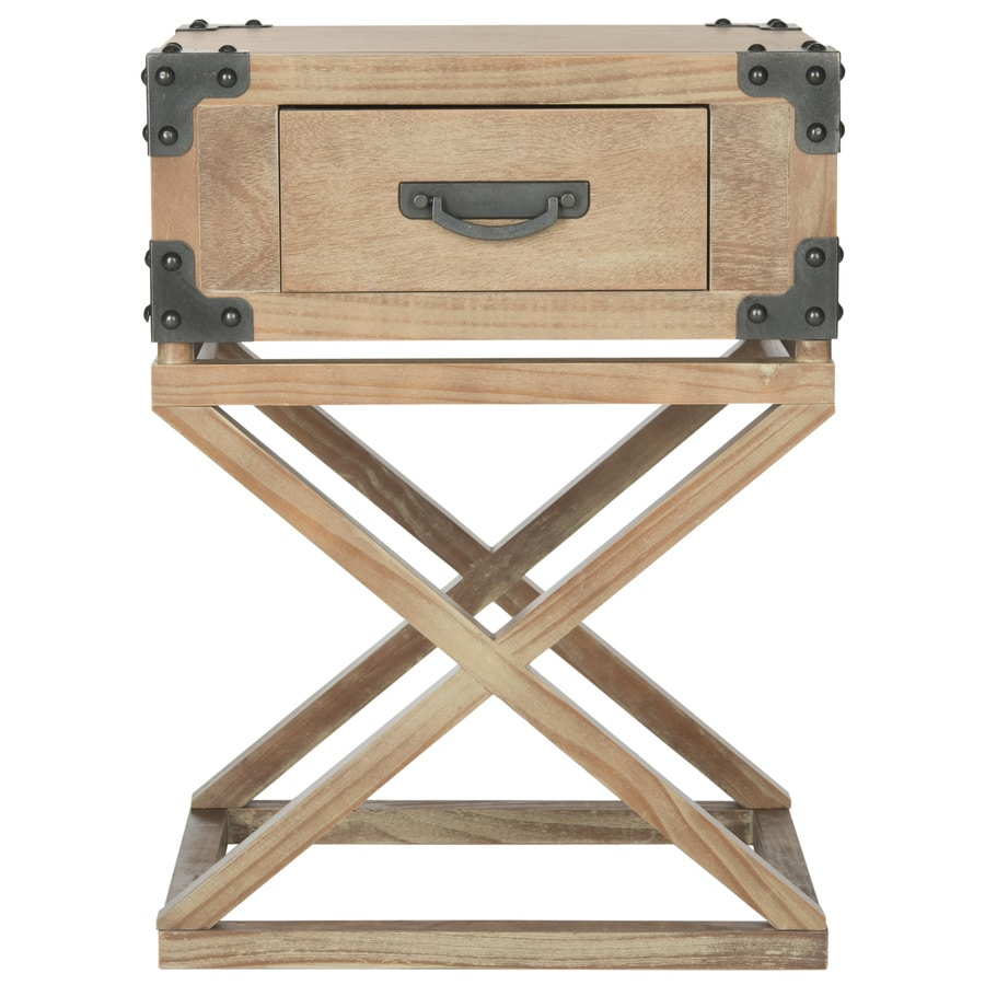 Safavieh Milo Washed Natural Pine Pine End Table