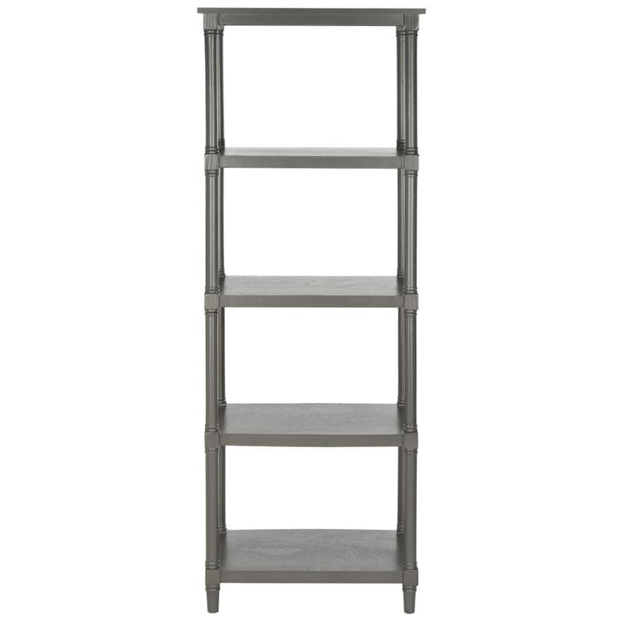 Safavieh 66.9-in H x 23.6-in W x 15.7-in D 4-Tier Wood Freestanding Shelving Unit