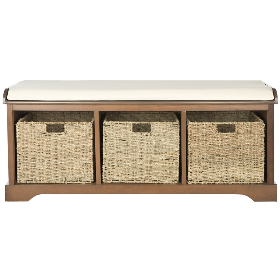 Safavieh Lonan Coastal Walnut Storage Bench
