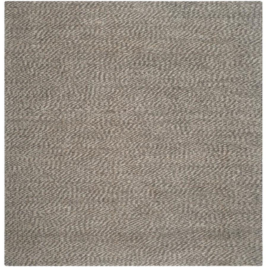 Safavieh Natural Fiber Nassau Gray/Gray Square Indoor Handcrafted Coastal Area Rug (Common: 6 x 6; Actual: 6-ft W x 6-ft L)