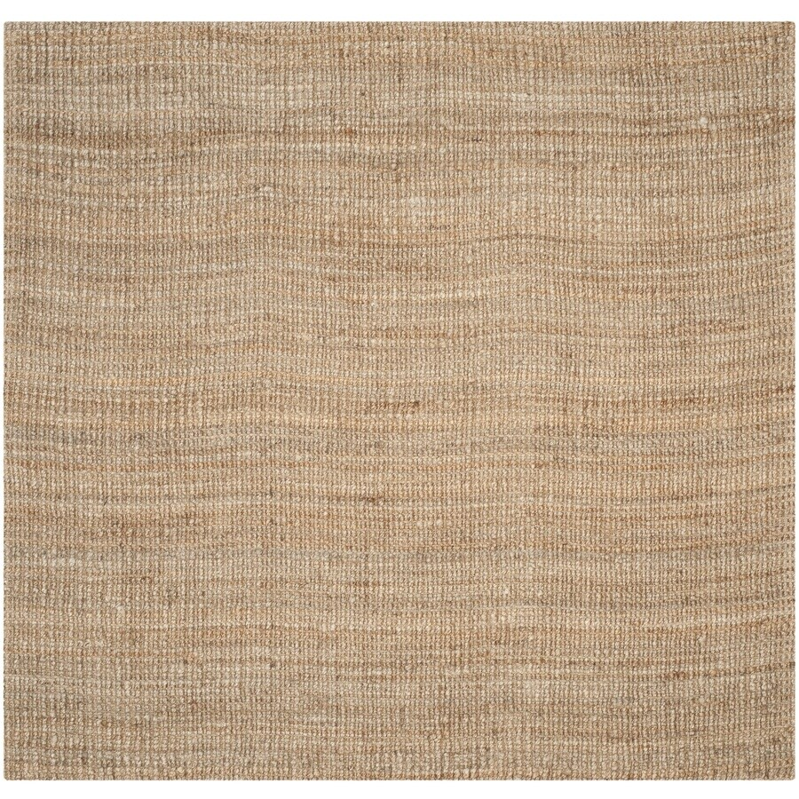 Safavieh Natural Fiber Natural Square Indoor Woven Coastal Area Rug (Common: 4 x 4; Actual: 4-ft W x 4-ft L x 0-ft Dia)