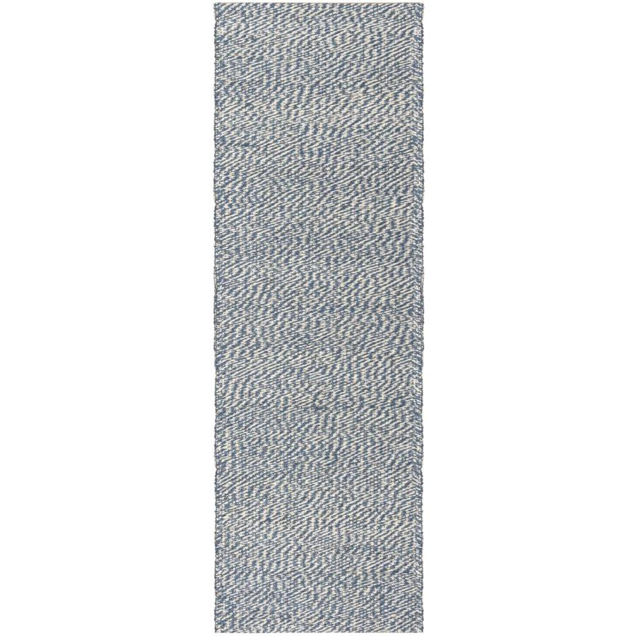 Safavieh Natural Fiber Nassau Blue/Ivory Indoor Handcrafted Coastal Runner (Common: 2 x 10; Actual: 2-ft W x 10-ft L)