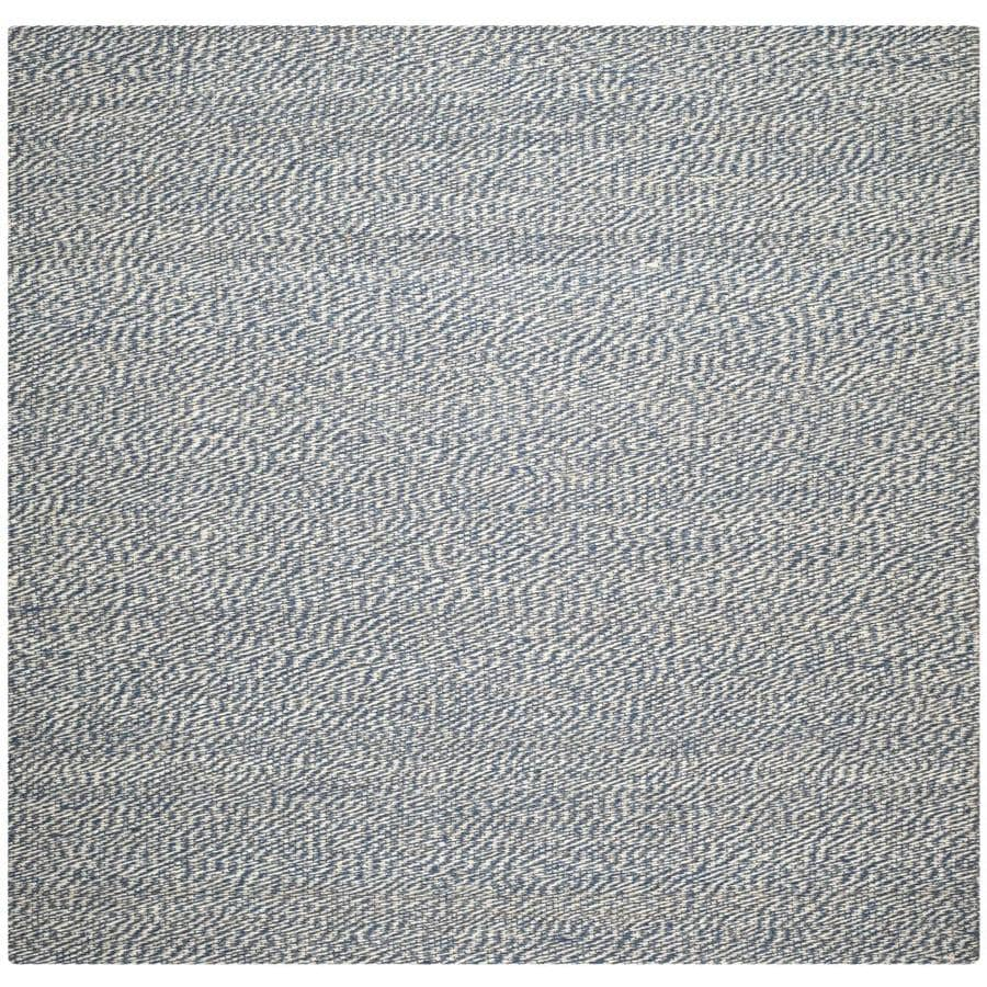 Safavieh Natural Fiber Nassau Blue/Ivory Square Indoor Handcrafted Coastal Area Rug (Common: 4 x 4; Actual: 4-ft W x 4-ft L)