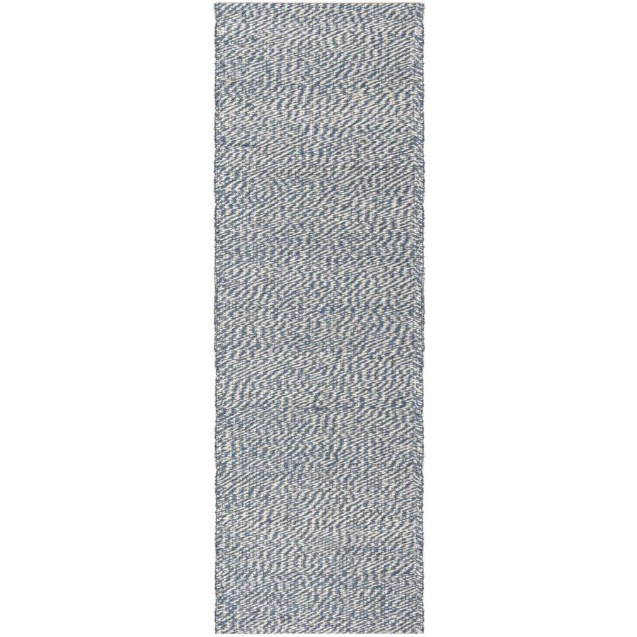 Safavieh Natural Fiber Nassau Blue/Ivory Indoor Handcrafted Coastal Runner (Common: 2 x 6; Actual: 2-ft W x 6-ft L)