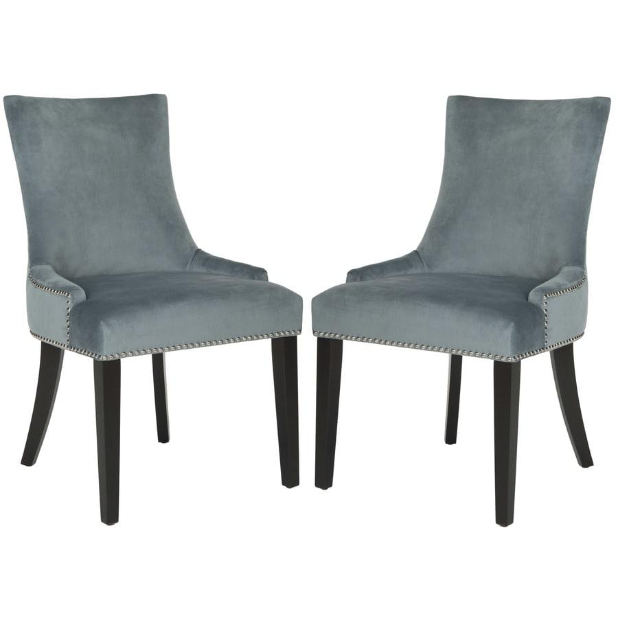 Safavieh Set of 2 Mercer Blue Side Chairs