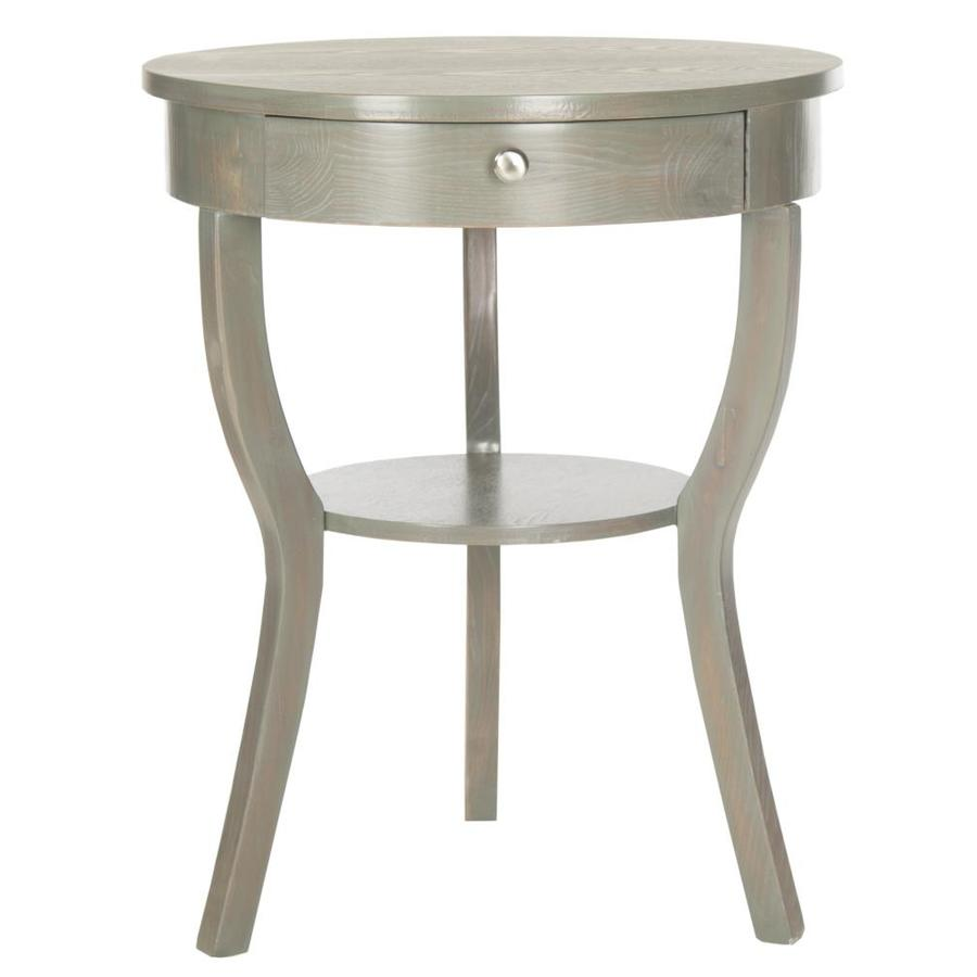 shop safavieh kendra french gray wood casual end table at. Black Bedroom Furniture Sets. Home Design Ideas