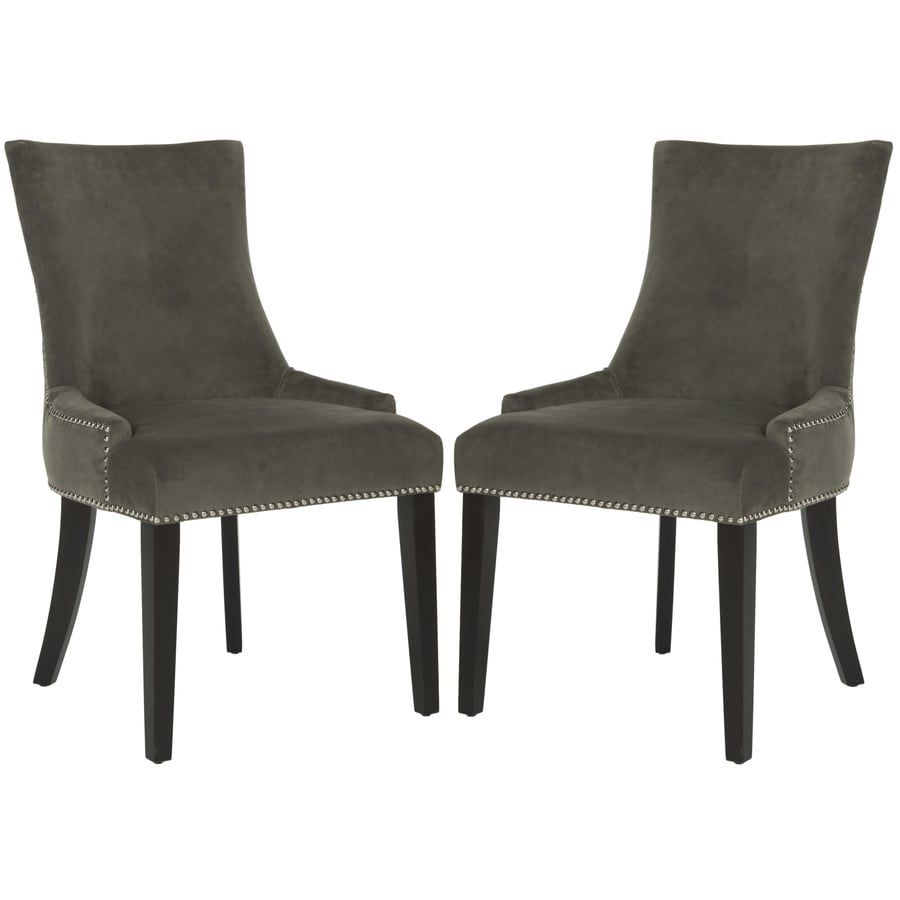 Safavieh Set of 2 Mercer Graphite Side Chairs