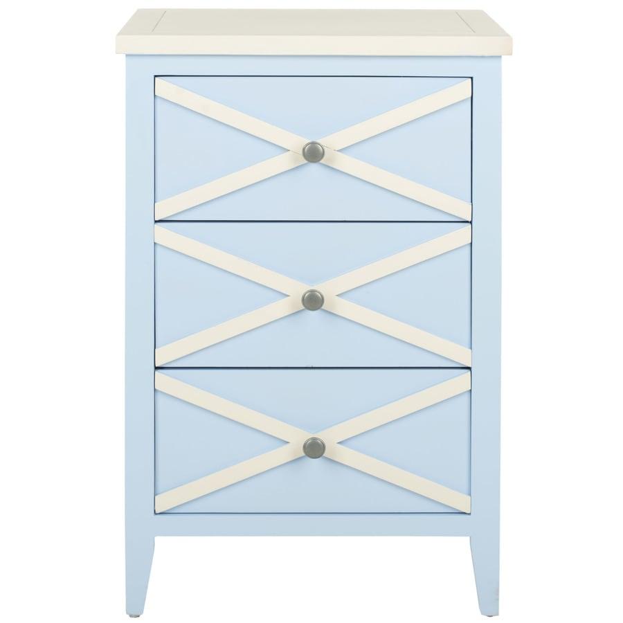 Safavieh American Home Light Blue Poplar Rectangular End Table