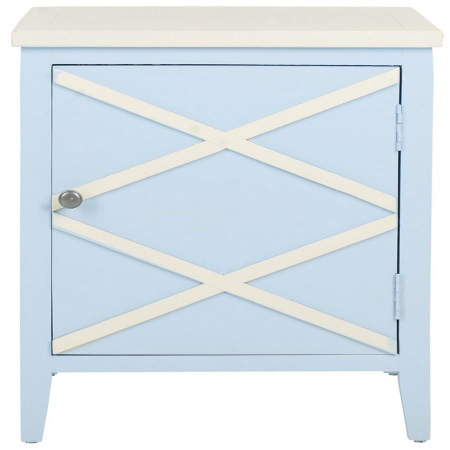 Safavieh American Home Light Blue Poplar Rectangular End Table