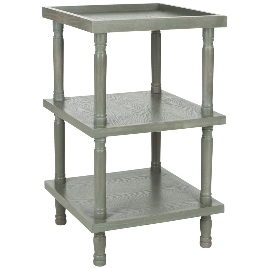 Safavieh American Home French Gray Elm Square End Table