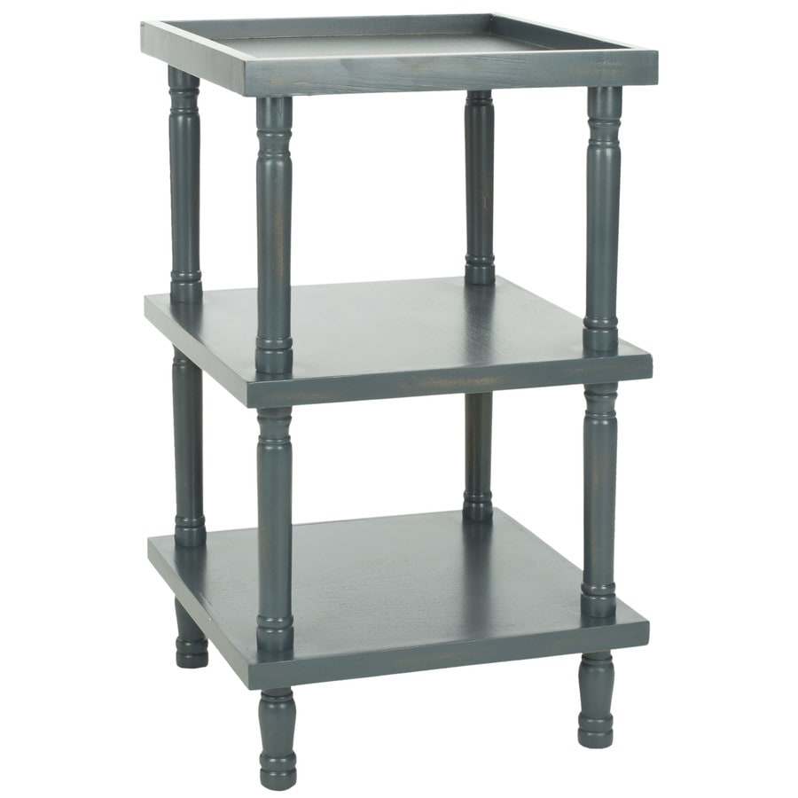 Safavieh American Home Steel Teal Pine Square End Table