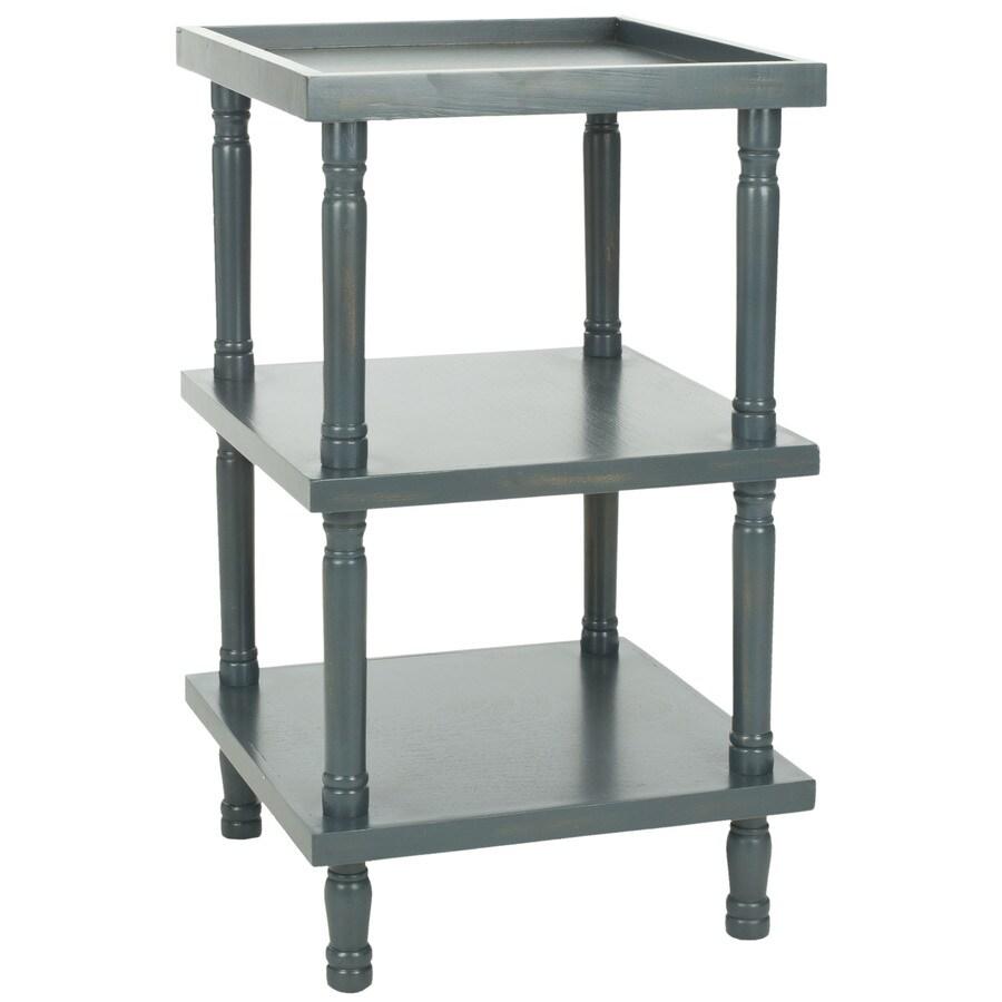 Safavieh Esmeralda Steel Teal Pine End Table