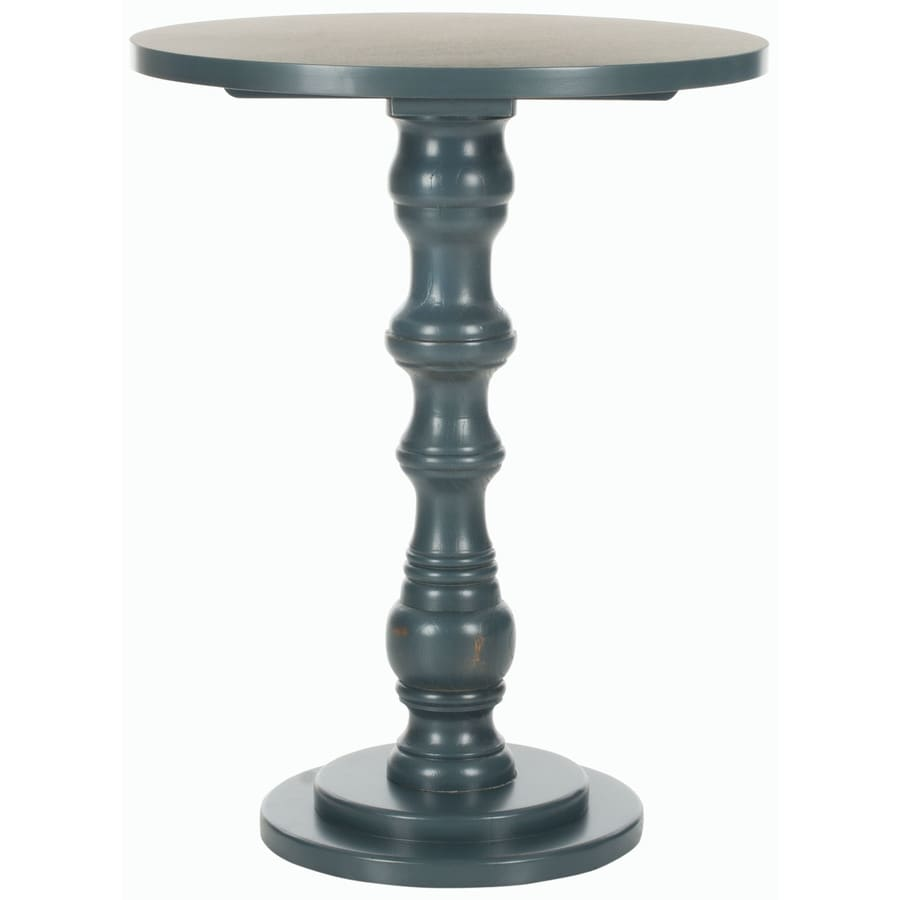 Safavieh American Home Steel Teal Pine Round End Table