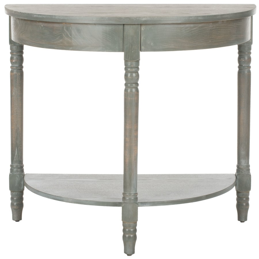 Shop safavieh randell gray elm console table at lowes safavieh randell gray elm console table geotapseo Image collections