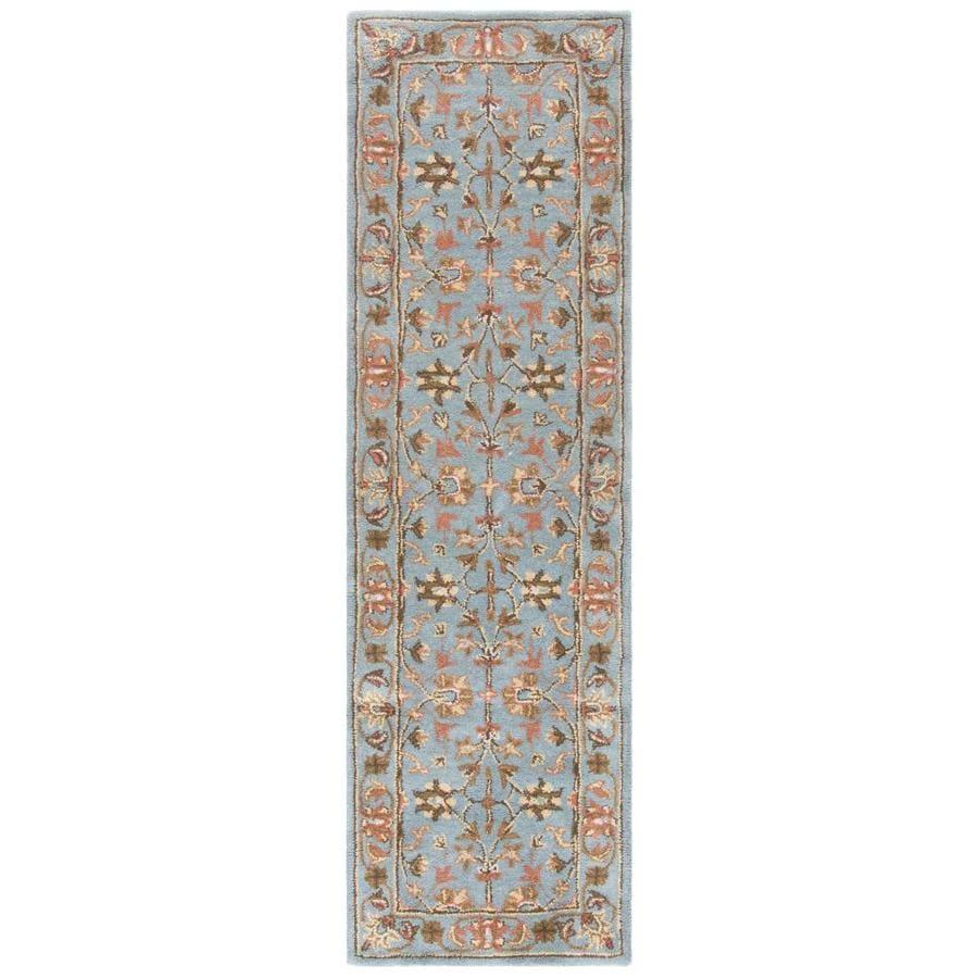 Safavieh Heritage Salor Blue/Blue Rectangular Indoor Handcrafted Oriental Runner (Common: 2 x 16; Actual: 2.25-ft W x 16-ft L)