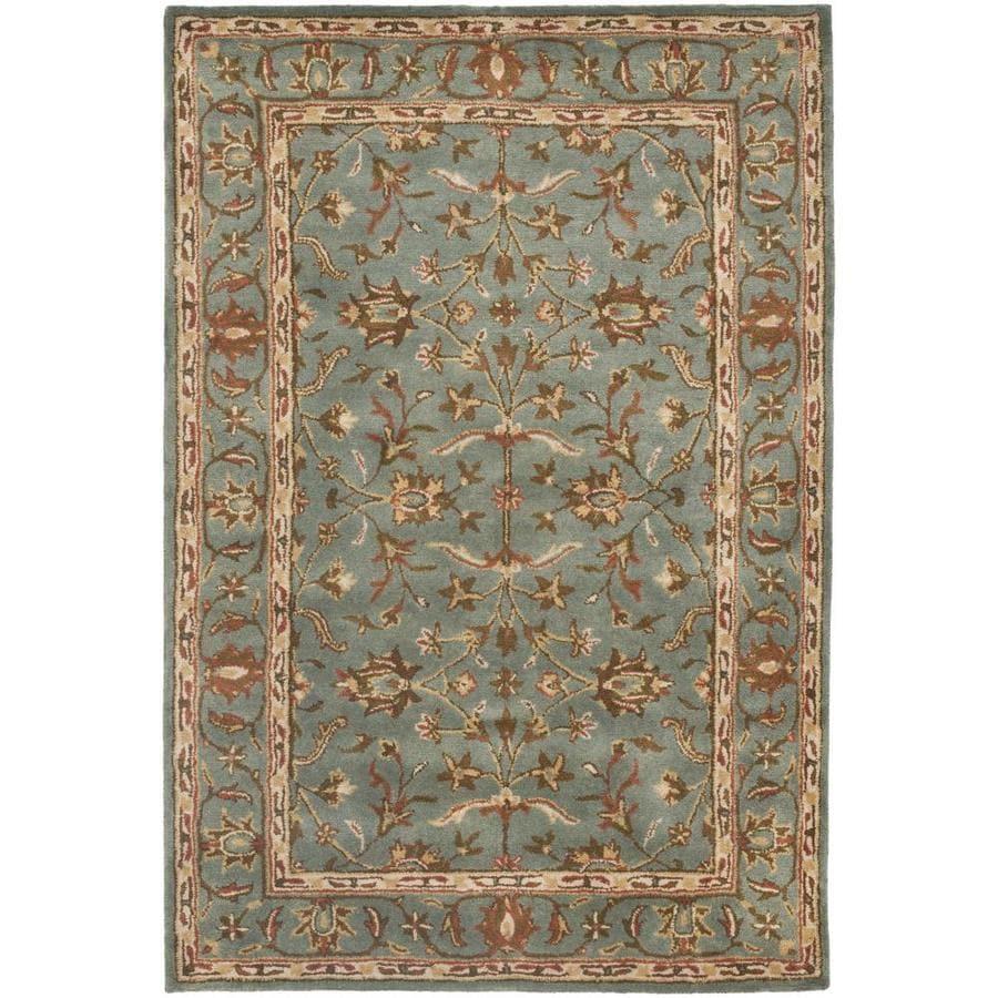 Safavieh Heritage Salor Blue/Blue Rectangular Indoor Handcrafted Oriental Runner (Common: 2 x 4; Actual: 2.25-ft W x 4-ft L)