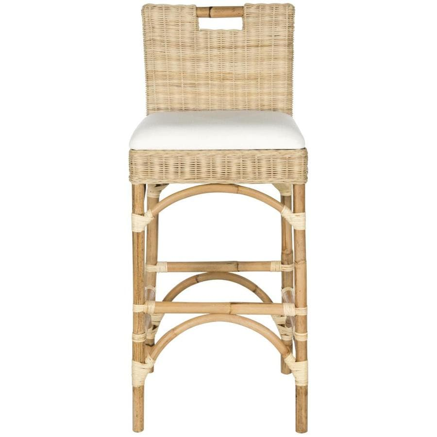 Shop Safavieh Fremont Coastal Natural Bar Stool At Lowes Com