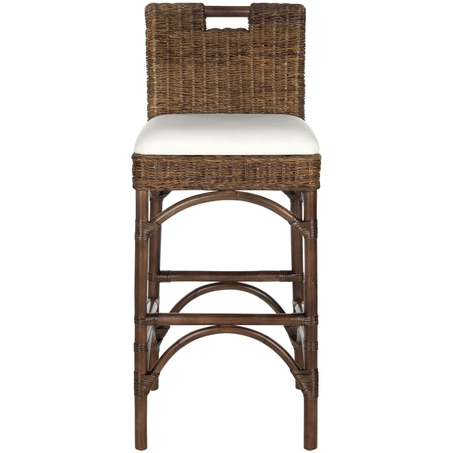 Safavieh Fremont Coastal Brown Bar Stool