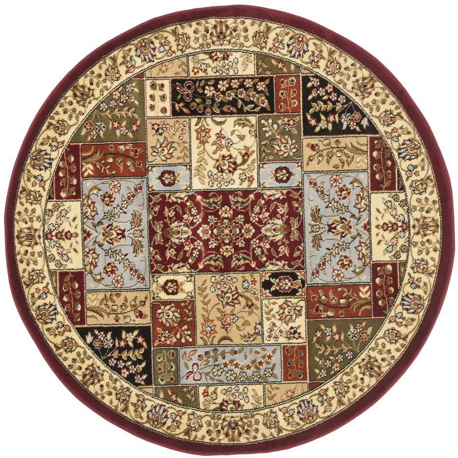 Safavieh Lyndhurst Omni Multi/Ivory Round Indoor Machine-made Oriental Area Rug (Common: 5 x 5; Actual: 5.25-ft W x 5.25-ft L x 5.25-ft Dia)