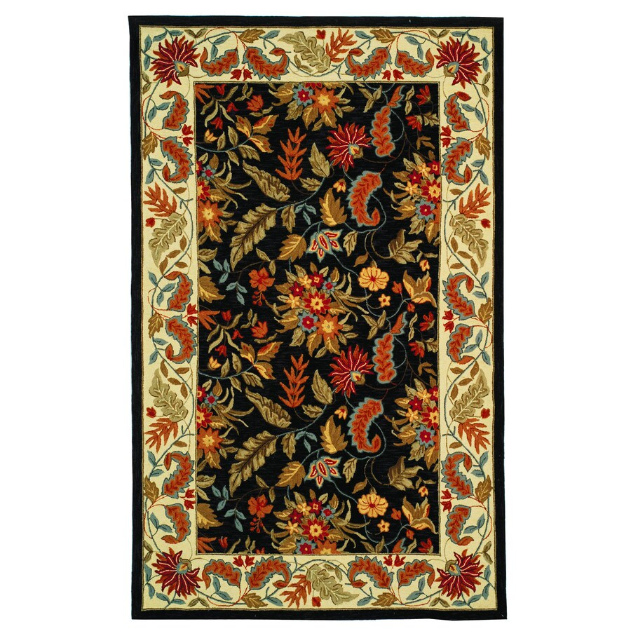 Safavieh Chelsea Spring Black Indoor Handcrafted Lodge Area Rug (Common: 5 x 8; Actual: 5.25-ft W x 8.25-ft L)