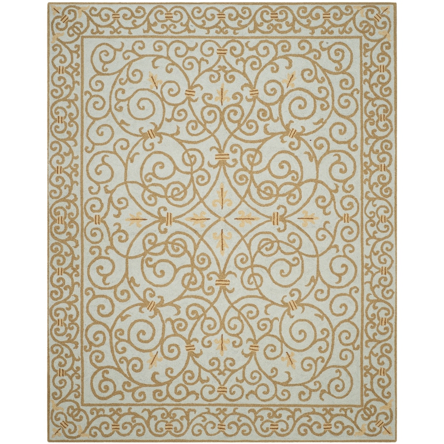 Safavieh Chelsea Iron Gate Light Blue Indoor Handcrafted Lodge Area Rug (Common: 8 x 10; Actual: 7.75-ft W x 9.75-ft L)