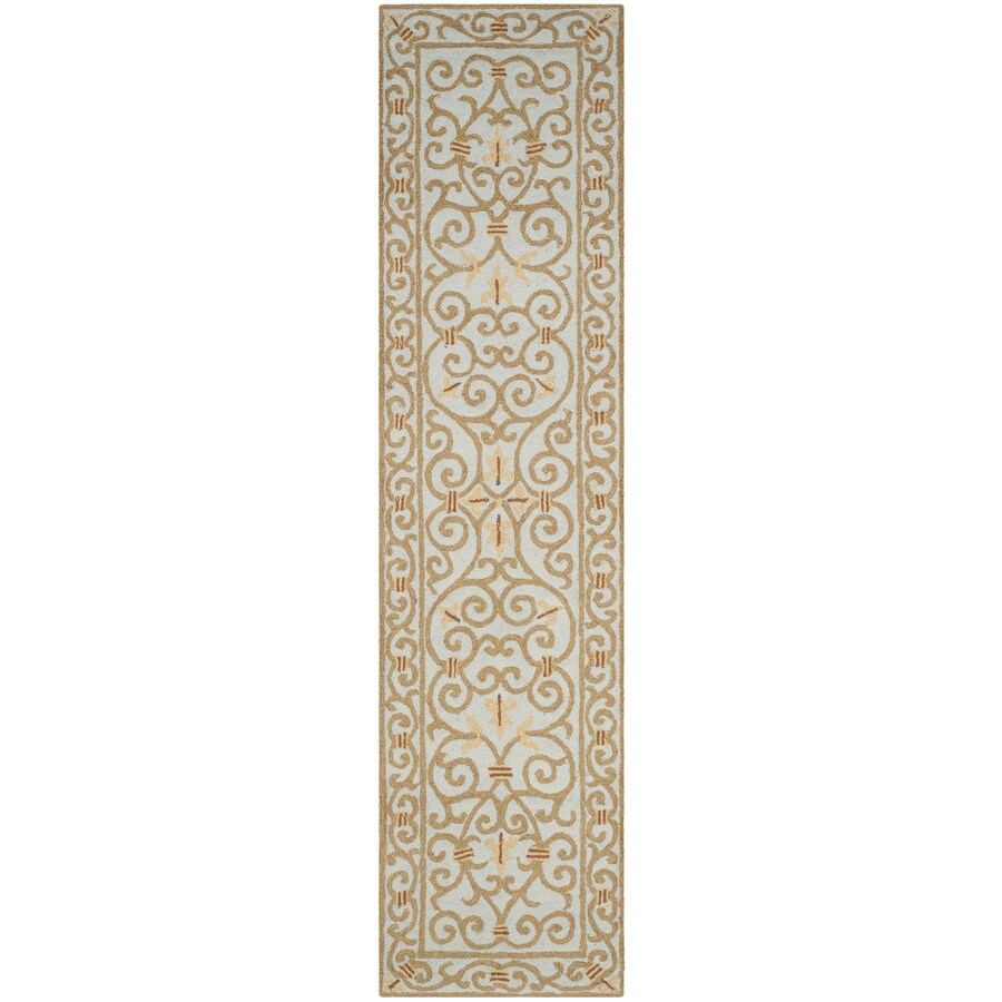 Safavieh Chelsea Iron Gate Light Blue Indoor Handcrafted Lodge Runner (Common: 2 x 10; Actual: 2.5-ft W x 10-ft L)