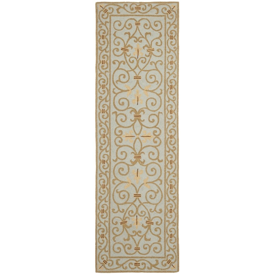 Safavieh Chelsea Iron Gate Light Blue Indoor Handcrafted Lodge Runner (Common: 2 x 8; Actual: 2.5-ft W x 8-ft L)