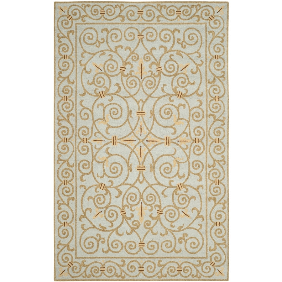 Safavieh Chelsea Iron Gate Light Blue Rectangular Indoor Handcrafted Lodge Area Rug (Common: 5 x 8; Actual: 5.25-ft W x 8.25-ft L)