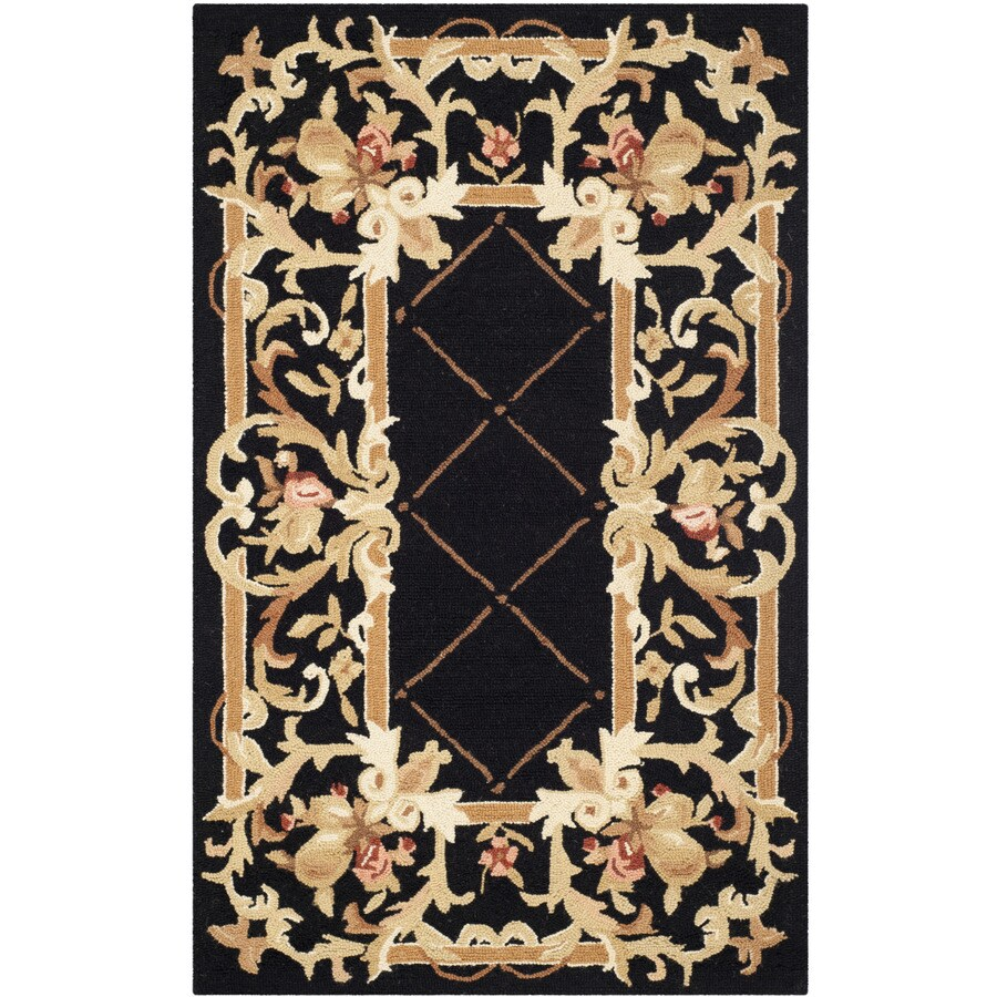 Safavieh Chelsea Anjou Black Indoor Handcrafted Lodge Throw Rug (Common: 3 x 6; Actual: 3-ft W x 6-ft L)
