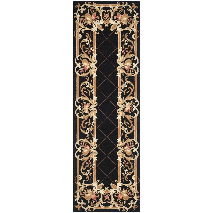 Safavieh Chelsea Anjou Black Indoor Handcrafted Lodge Runner (Common: 3 x 8; Actual: 3-ft W x 8-ft L)