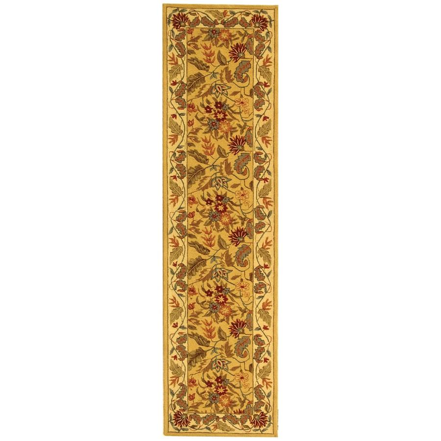 Safavieh Chelsea Ivory Rectangular Indoor Handcrafted Lodge Runner (Common: 2 x 8; Actual: 2.5-ft W x 8-ft L)