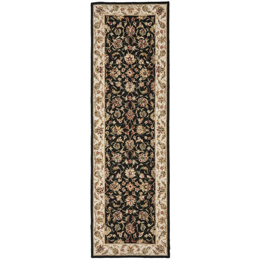 Safavieh Chelsea York Black Rectangular Indoor Handcrafted Lodge Runner (Common: 2 X 10; Actual: 3-ft W x 10-ft L)