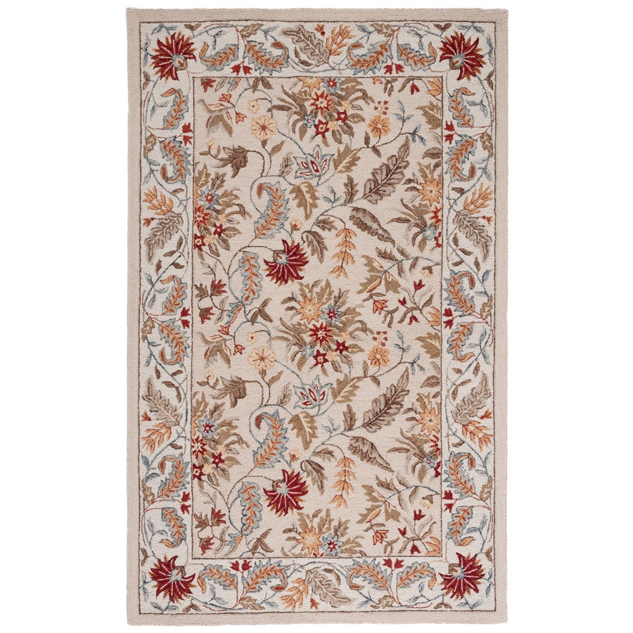 Safavieh Chelsea Ivory Rectangular Indoor Hand-Hooked Lodge Throw Rug (Common: 3 x 5; Actual: 3.75-ft W x 5.75-ft L)