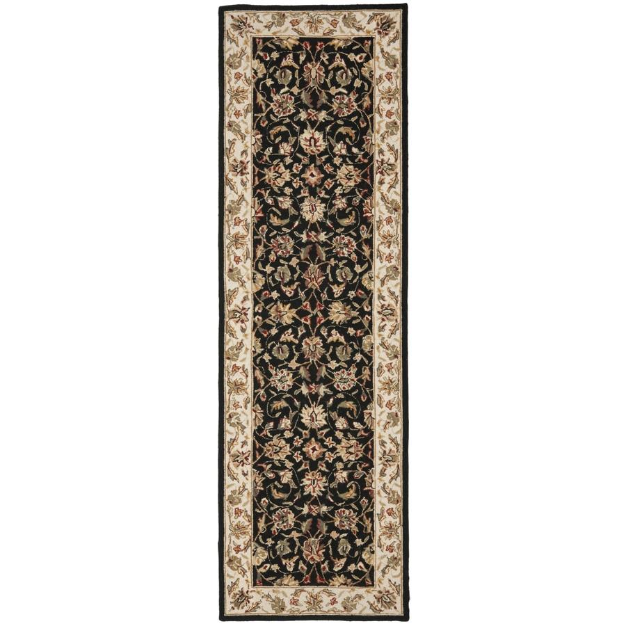 Safavieh Chelsea York Black Rectangular Indoor Handcrafted Lodge Throw Rug (Common: 3 x 6; Actual: 3-ft W x 6-ft L)