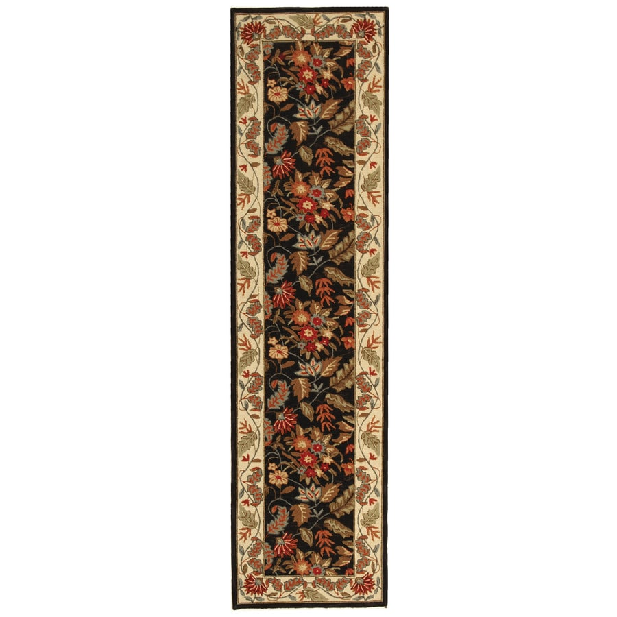 Safavieh Chelsea Spring Black Rectangular Indoor Handcrafted Lodge Runner (Common: 2 x 12; Actual: 2.5-ft W x 12-ft L)