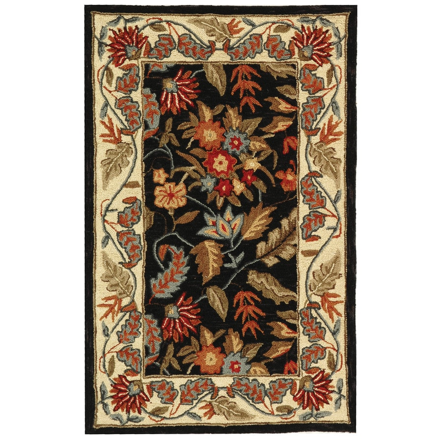 Safavieh Chelsea Spring Black Rectangular Indoor Handcrafted Lodge Throw Rug (Common: 2 X 4; Actual: 2.5-ft W x 4-ft L)