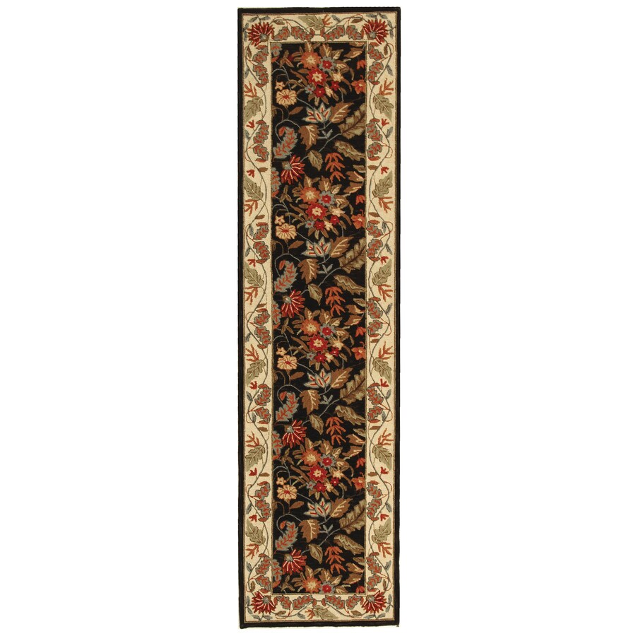 Safavieh Chelsea Spring Black Rectangular Indoor Handcrafted Lodge Runner (Common: 2 X 8; Actual: 2.5-ft W x 8-ft L)