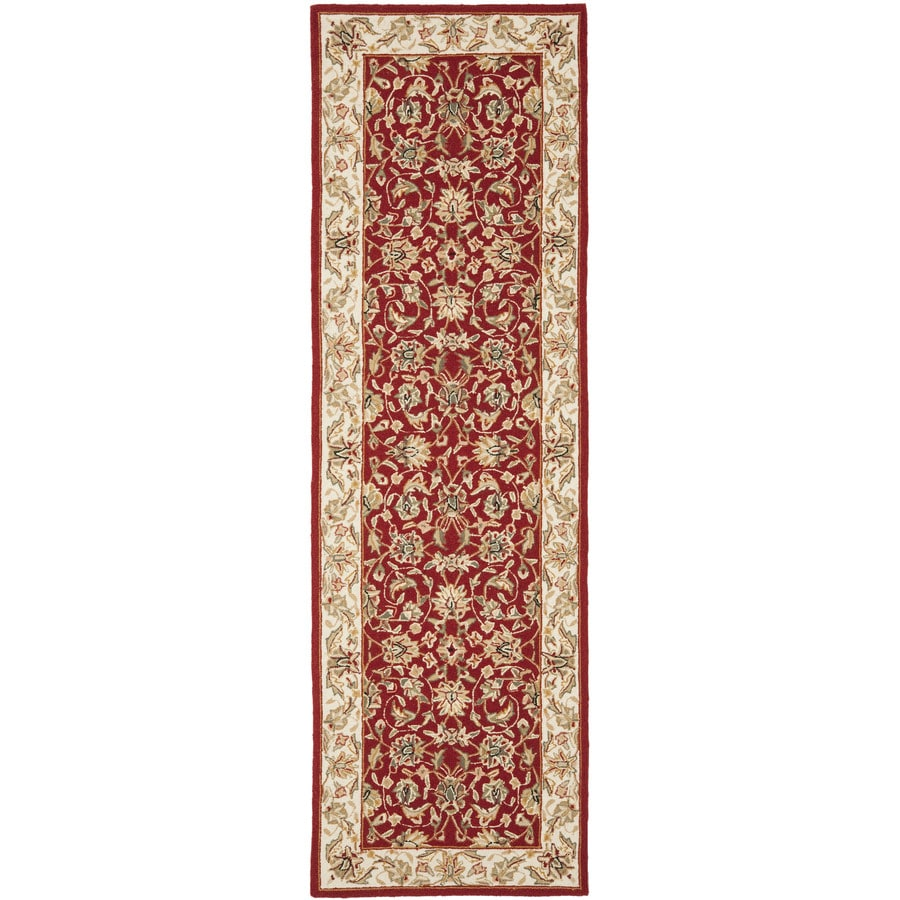 Safavieh Chelsea York Burgundy/Ivory Indoor Handcrafted Lodge Throw Rug (Common: 3 x 6; Actual: 3-ft W x 6-ft L)
