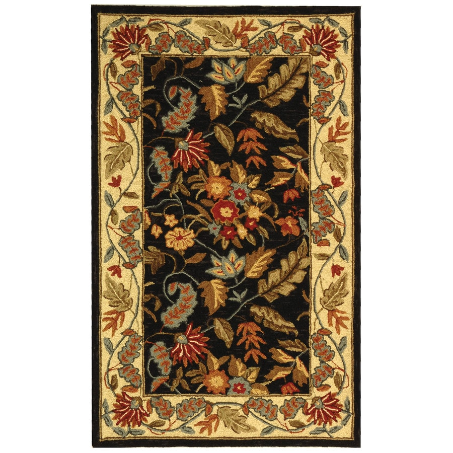 Safavieh Chelsea Spring Black Indoor Handcrafted Lodge Throw Rug (Common: 3 x 5; Actual: 2.75-ft W x 4.75-ft L)
