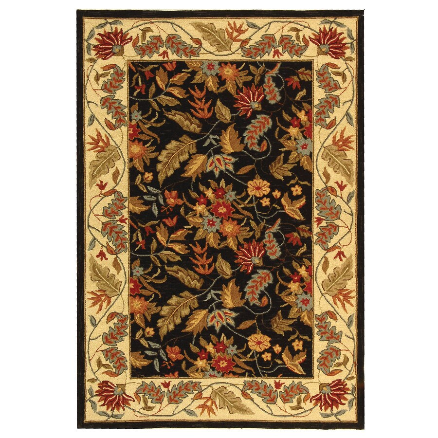 Safavieh Chelsea Spring Black Indoor Handcrafted Lodge Area Rug (Common: 4 x 6; Actual: 3.75-ft W x 5.75-ft L)