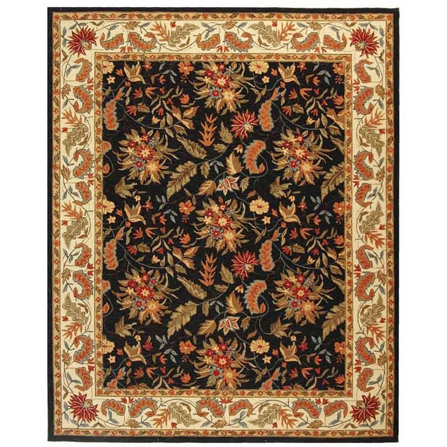 Safavieh Chelsea Black Rectangular Indoor Handcrafted Lodge Area Rug (Common: 6 x 9; Actual: 7.75-ft W x 9.75-ft L)