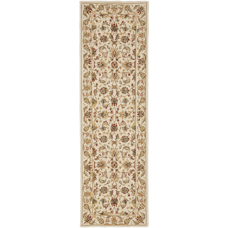 Safavieh Chelsea York Ivory/Ivory Rectangular Indoor Handcrafted Lodge Runner (Common: 3 x 8; Actual: 3-ft W x 8-ft L)